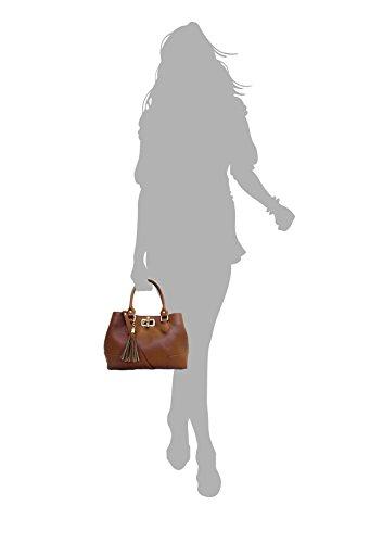 Nobam Superflybags in Pelle Made Donna Bambù Nero Italy in con Vera in modello Borsa Chiusura ZqSwYnqB4