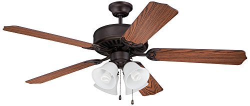 Craftmade Classic Ceiling Fan Light (Craftmade C203ABZ Ceiling Fan with Blades Sold Separately, 52