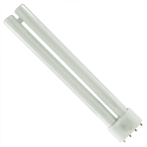 Philips Lighting 359323 PL-L Linear Compact Fluorescent Lamp 18 Watt 4-Pin 2G11 Base 1200 Lumens 82 CRI 3500K White (Pll Compact Fluorescent Lamp)