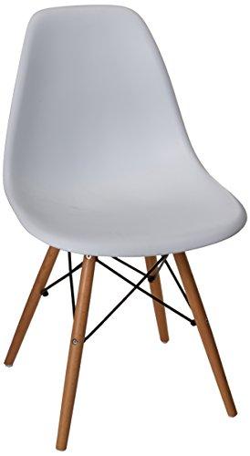 Set de 4 Sillas Réplica Eames Blanca