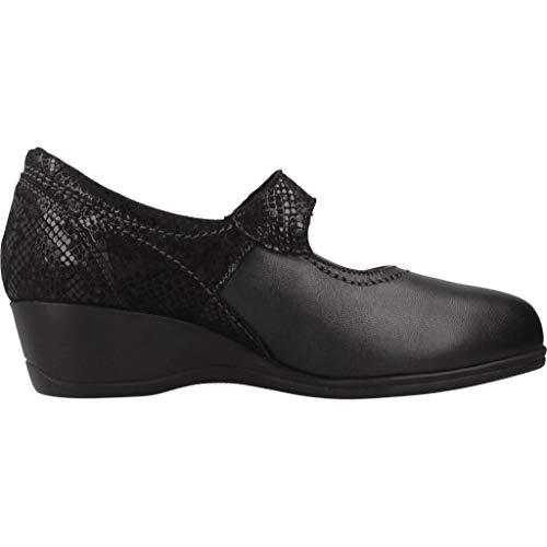 Negro Zapatos PINOSOS Marca Color Cordones De Negro para PINOSOS Negro Zapatos Mujer Mujer 6729 Modelo de Cordones para rw10Xrq