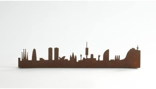 Òxids - Barcelona skyline pequeño, medidas 5 cm x 25 cm x 2,5 cm (alto x ancho x profundo).: Amazon.es: Hogar