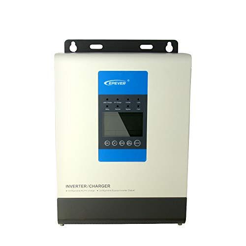 EPever Pure Sine Power Inverter 3000VA 48V Hybrid Solar Power Inverter and MPPT 20A Solar Charger Max 150V PV Input 220VAC Utility Input 220VAC Output (20A 48V)