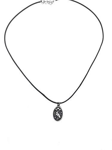 MOCAL Triple Moon Celtic Raven Pendant Necklace (Silver)