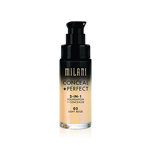 Milani Conceal + Perfect 2-in-1 Foundation Concealer, Light Beige, 1.0 Fluid Ounce