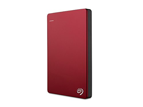 Seagate Backup Plus Slim 2TB Portable External Hard Drive USB 3.0, Red (STDR2000103)