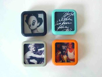 4 Pieces Of Rubber Magnetic Picture Photo Frame Magnet Frame