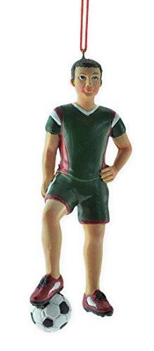 Boy Soccer Player Christmas Ornament 5.25 by Oxbay (Football Player Christmas Tree Ornament)