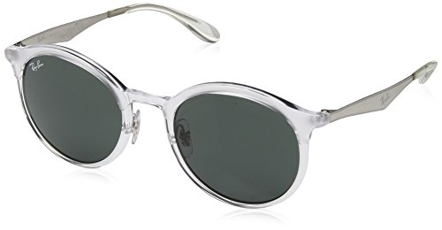 Ray-Ban Injected Unisex Round Sunglasses, Transparent, 51 - Rayban Glasses Round