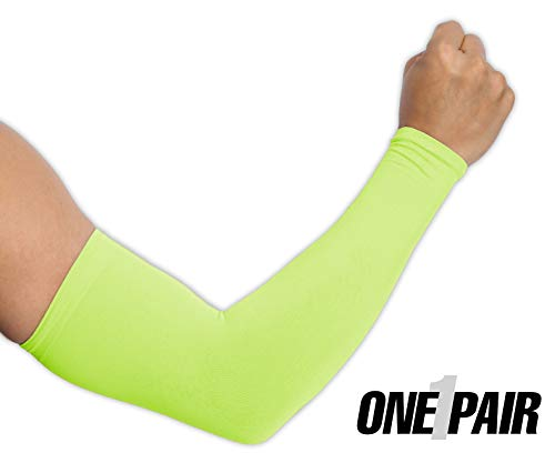 UV Protection Cooling Arm Sleeves - UPF 50 Long Sun Sleeves for Men & Women. Perfect for Cycling, Driving, Running, Basketball, Football & Outdoor Activities. Performance Stretch & Moisture Wicking ()