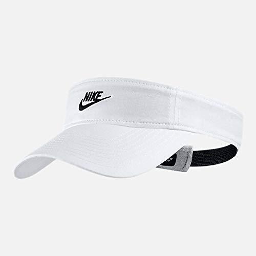 NIKE Women's Sportswear Visor White/Black 919697-100 (Size OS)