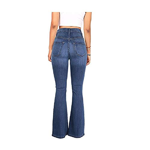 Pantaloni Zhrui Blu Alta Larghi Donna Vita Jeans rz4Yxwqdr