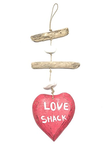Love Shack Driftwood Garland w/ White Stone -  Valentines day wall hangings