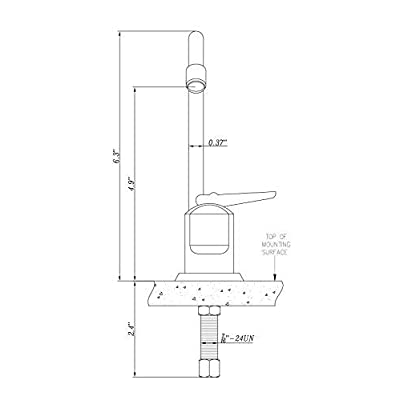 Dura Faucet DF-DF350-CP RV Drinking Faucet - 6-inch Tall (Chrome): Automotive