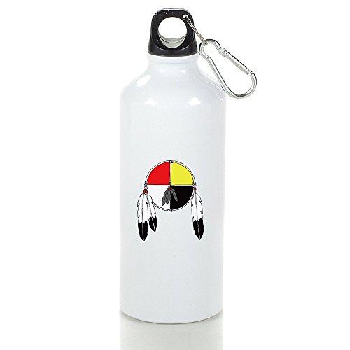Medicine Wheel Cool Aluminum Sports Water Bottle