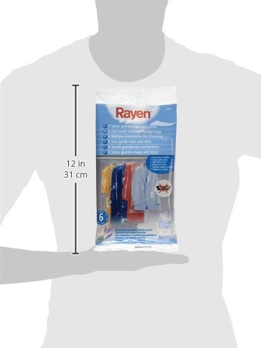 Rayen 6048 6 Moth-Resistant Carrying Cases for Clothing