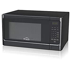 Walsh WSCMS311BK-10 Countertop Microwave Oven, 6 Cooking Programs LED Lighting Push Button, 1.1 Cu.Ft/1000W, Black 5