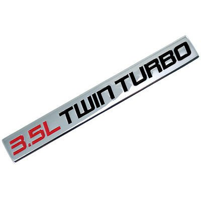 Twin Trunk (Chrome/Red/Black Metal 3.5L Twin Turbo Engine Motor Badge For Trunk Hood Door for Ford Taurus)