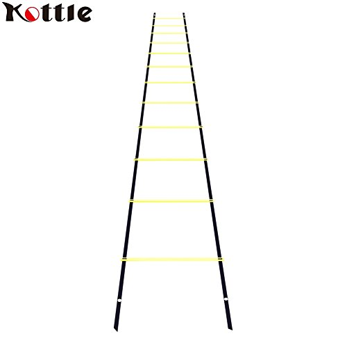 Kottle 19FT 12-Rung Sports Agility Ladder Speed Ladder for Speed, Football Fitness Feet Training
