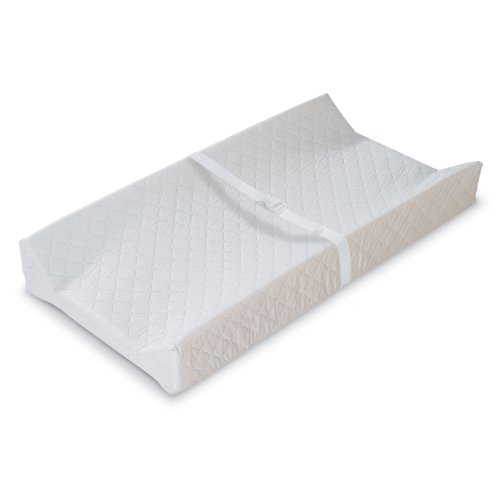 High White Vinyl - Summer Infant Contoured Changing Pad