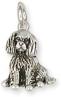 Cavalier King Charles Spaniel Angel Charm Slide Jewelry Sterling Silver Handmade