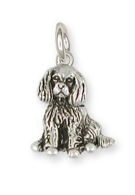 Cavalier King Charles Spaniel Jewelry Sterling Silver Cavalier King Charles Spaniel Charm Handmade Dog Jewelry -