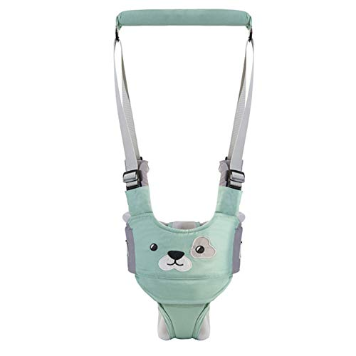 Baby Walker Adjustable Baby Toddler Walking Assistant Protective Belt Walking Harness Learning Walk Breathable Safety Reins Harness Walker Wings (Green, Jockstrap Style)