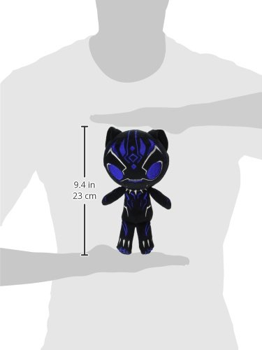 Funko Hero Plushies: Black Panther – Blue Glow Black Panther Collectible Plush