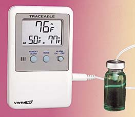 Thermometer with Alarm Each Model 61161-364 VWR Refrigerator//Freezer Thermometers