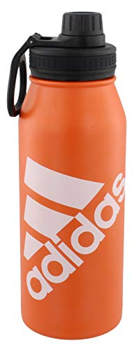 (adidas 18/8 Stainless Steel 1 Liter Hot/Cold Insulated Metal Bottle (32oz))