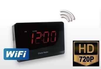 Camara espia en radio Reloj Despertador WIFI IR y deteccion de movimiento