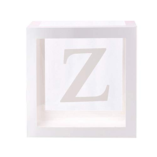 Ktyssp Letter A-Z Square Baby Shower Balloon Box Transparent Box Birthday Party Decoration Home Decoration Box Wedding Room Layout Box (Z)
