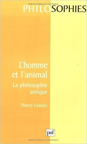 Téléchargement L' Homme et l'animal : La Philosophie antique pdf, epub ebook