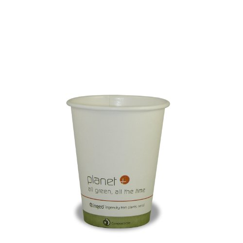 Planet + 100% Compostable PLA Laminated Hot Cup, 8-Ounce, 1000-Count - Cup Hot Case