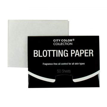 (Pack of 24, 1200 Ct) City Color Fragrance-Free Blotting Paper Premium Handy Face Blotting Sheets Oil Absorbing Tissues