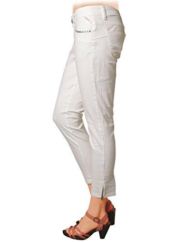 Style Pour Basse Tissu 777 Jeans Pantalon Carrera Couleur Skinny Lavage Capri Femme Foncé 001 Taille Bleu Unie Extensible wRX4qwxO