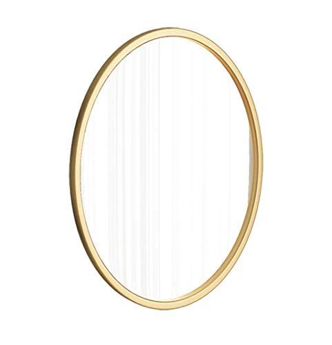 Oval Wall Bathroom Mirror Hanging Mirror | Circle Wall Mounted Vanity Makeup - Edge Beveled Mirrors Bathroom Plane