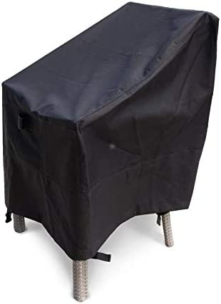 Sturdy Covers Patio Chair Cover – Waterproof, Weatherproof, and Durable for Year-Long Protection – Leg Straps, Drawstring Cord, and Padded Handles for Secure Coverage