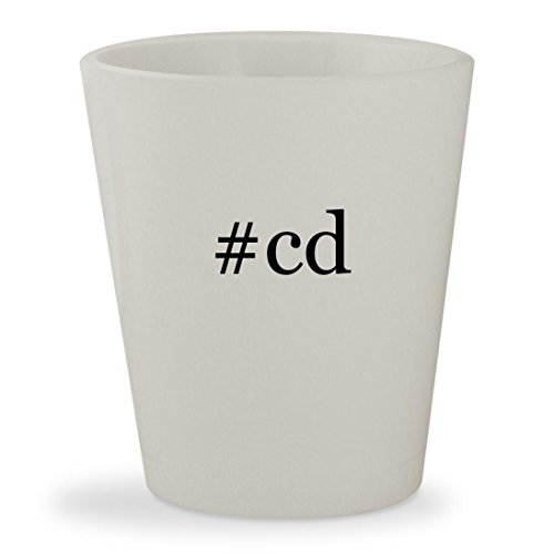 #cd - White Hashtag Ceramic 1.5oz Shot - Glasses Deschanel Zooey