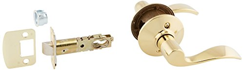 Set off Hall and Closet Lever, Bright Brass (F10 ACC 505)