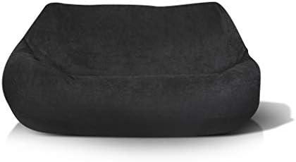 Merveilleux Amazon.com: Jordan Manufacturing BB2SPK1 BLKPLU Plush 2 Seater In Black Bean  Bag Chair,: Kitchen U0026 Dining