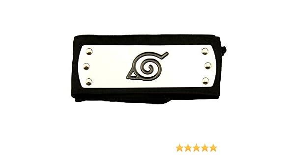 Mtxc Naruto Cosplay Accesorios Konoha Cabeza Banda Negro