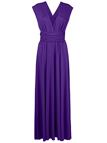 - Persun Infinity Gown Dresses Multi-way Strap Wrap Convertible Maxi Dresses for Womens