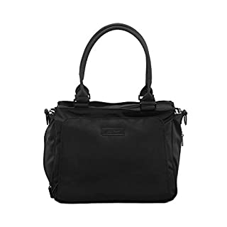 JuJuBe Be Classy Structured Multi-Functional Diaper Bag/Purse, Onyx Collection - Black Out