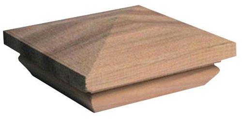 Woodway Products 870.3126 6-by-6-Inch Mahogany Pyramid Post Cap, 8-Pack, Mahogany