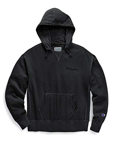 Champion Men's Vintage Dye Fleece Hoodie, XXL, (Ribbed Trim Fleece Hoodie)