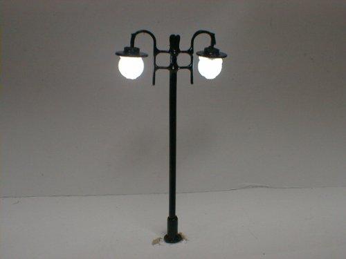 10 Stück LED Altstadt Laternen 2-flammig Farbe: schwarz (Typ2) zu H0 oder TT freitag-devices