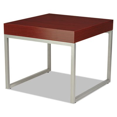 Occasional Corner Table, 23 5/8w x 23 5/8d x 20h, Mahogany/Silver, Sold as 1 Each by Generic