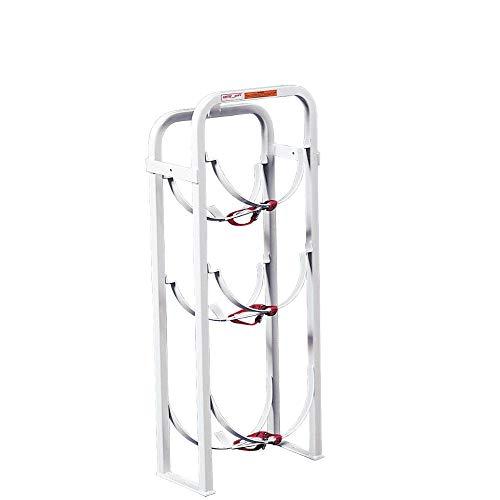 Weatherguard Refrigerant Tank Rack, 2 x 30lbs, 1 x 50lbs, 40in x 8in x 8in