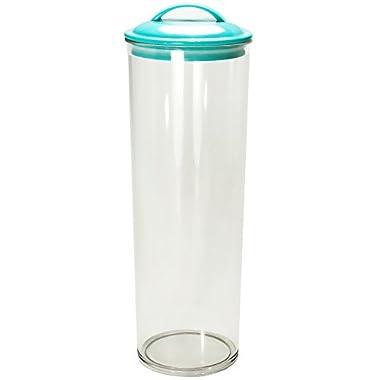 Calypso Basics Acrylic Spaghetti Jar, Turquoise Lid